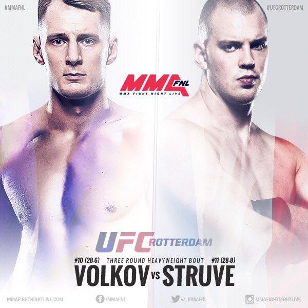 Александр Волков против Стефана Штруве на UFC Rotterdam в сентябре