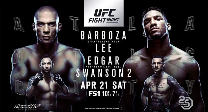 UFC FIGHT NIGHT Edson Barboza vs Kevin Lee