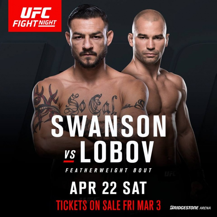Лобов — Свонсон возглавит UFC Fight Nights 109