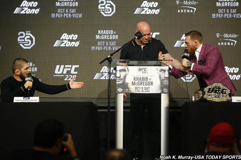 Слова МакГрегора и Нурмагомедова на пресс-конференции UFC 229 в Нью-Йорке