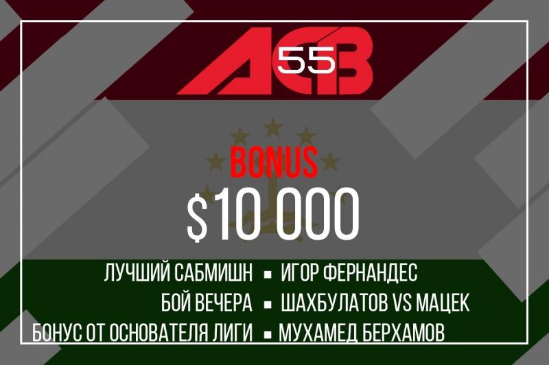 Бонусы по итогам ACB 55