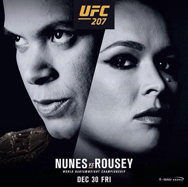 Аманда Нуньес против Ронды Роузи на UFC 207